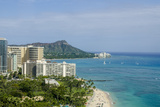 Waikiki Beach and Diamond Head  Waikiki  Honolulu  Oahu  Hawaii  United States of America  Pacific