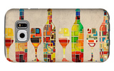 Wine Bottle and Glass Group Geometric