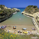 View of Beach  Canal D`Amour  Sidari  North Coast  Corfu  Ionian Islands  Greek Islands  Greece