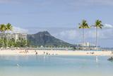 Waikiki Beach and Diamond Head  Waikiki  Honolulu  Oahu  Hawaii  United States of America  Pacific