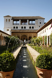 Generalife Gardens  Alhambra Palace  UNESCO World Heritage Site  Granada  Andalucia  Spain  Europe