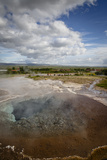 A Geothermal Hotspring Pool with Dissolved Minerals  Geysir  Golden Circle  Iceland  Polar Regions