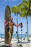 Duke Paoa Kahanamoku  Waikiki Beach  Honolulu  Oahu  Hawaii  United States of America  Pacific