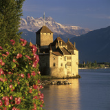Chateau De Chillon (Chillon Castle) on Lake Geneva  Veytaux  Vaud Canton  Switzerland
