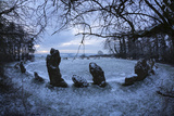 The King's Men in Snow  the Rollright Stones  Near Chipping Norton