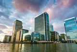 Canary Wharf at Dusk  Docklands  London  England  United Kingdom  Europe