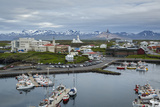 View over the Fishing Port and Houses at Stykkisholmur  Snaefellsnes Peninsula  Iceland
