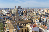 Skyline View Including the Iglesia De Santa Catalina and Plaza Redonda  Valencia  Spain