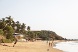 View over South Anjuna Beach  Goa  India  Asia