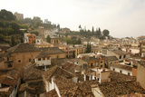 View over the Rooftops in the Albayzin  Granada  Andalucia  Spain  Europe