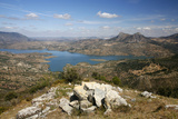 View over the Embalse De Zahara Reservoir  Parque Natural Sierra De Grazalema  Andalucia  Spain