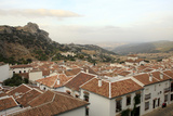 View over Grazalema Village at Parque Natural Sierra De Grazalema  Andalucia  Spain  Europe