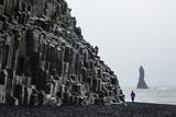 Basalt Columns at the Beach  Vik I Myrdal  Iceland  Polar Regions