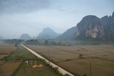Aerial View of the Countryside around Vang Vieng  Laos  Indochina  Southeast Asia  Asia
