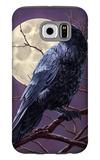 Raven and Moon Purple Sky