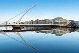 Samuel Beckett Bridge over the River Liffey  Dublin  County Dublin  Republic of Ireland  Europe