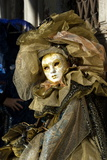 Lady in Gold  Venice Carnival  Venice  Veneto  Italy  Europe