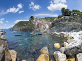 Clifftop Village of Riomaggiore  Cinque Terre  UNESCO World Heritage Site  Liguria  Italy  Europe