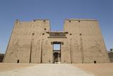 Pylon  Temple of Horus  Edfu  Egypt  North Africa  Africa