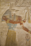 Bas-Relief of the God Anubis  Temple of Seti I  Abydos  Egypt  North Africa  Africa