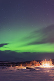 Aurora Borealis (Northern Lights)  Abisko  Lapland  Arctic Circle  Sweden  Scandinavia  Europe