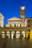 Santa Maria in Trastevere at Night  Piazza Santa Maria in Trastevere  Rome  Lazio  Italy