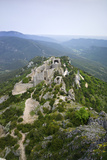 Peyrepertuse Cathar Castle  French Pyrenees  France