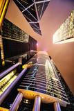 HsBC and Boc Towers at Night  Hong Kong  China