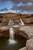 Secret Falls in the Fall  Washington County  Utah  United States of America  North America