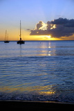 Sunset  St Kitts and Nevis  Leeward Islands  West Indies  Caribbean  Central America