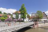 View over Wehrneckarkanal Chanel to Schwoerhaus House