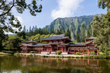 Byodo-In Temple  Valley of the Temples  Kaneohe  Oahu  Hawaii  United States of America  Pacific
