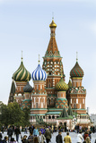 St Basils Cathedral in Red Square  Moscow  Russia