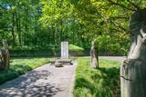 Stone Statues Watching over an Old Tomb in the Gardens of Hangzhou  Zhejiang  China