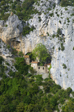 Hermitage in Galamus Gorge  French Pyrenees  France
