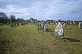 Megalithic Stones in the Menec Alignment at Carnac  Brittany  France  Europe