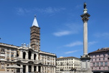 Marian Column and Basilica Santa Maria Maggiore  Rome  Lazio  Italy