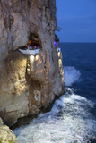 Bar Built in Cliff Caves  Cova D'En Xoroi in Evening  Cala En Porter