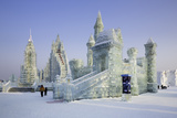 Spectacular Ice Sculptures  Harbin Ice and Snow Festival in Harbin  Heilongjiang Province  China
