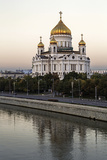 Cathedral of Christ the Saviour and Moskva River  Moscow  Russia