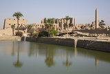 Sacred Lake (Foreground)  Karnak Temple  Luxor  Thebes  Egypt  North Africa  Africa