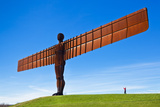 Person Photographing the Angel of the North Sculpture by Antony Gormley