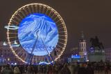 Place Bellecour  Fete Des Lumieres (Festival of Lights) Laser Show  Lyon  Rhone-Alpes  France