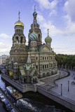 Domes of Church of the Saviour on Spilled Blood  UNESCO World Heritage Site  St Petersburg  Russia