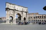 Arch of Constantine (Arco Di Costantino) and the Colosseum  Rome  Lazio  Italy