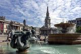 Fountains and St Martins Church  Trafalgar Square  London  England  United Kingdom