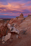 Orange Clouds at Sunset over Sandstone Cones