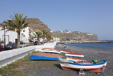 Fishing Boats at the Beach  Playa De Santiago  La Gomera  Canary Islands  Spain  Atlantic  Europe