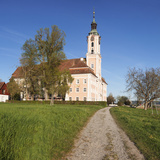 Pilgrimage Church of Birnau Abbey in Spring  Lake Constance  Baden-Wurttemberg  Germany