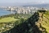Honolulu from Atop Diamond Head State Monument (Leahi Crater)